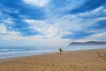 Sedgefield surfer, Garden Route, Western Cape